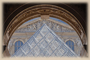 Museum Louve, Paris, view through the portal